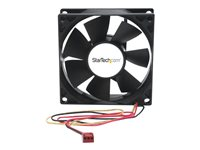 StarTech.com 80x25mm Dual Ball Bearing Computer Case Fan w/ TX3 Connector - System fan kit - 80 mm