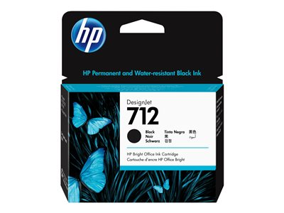 HP 712 - black - original - DesignJet - ink cartridge