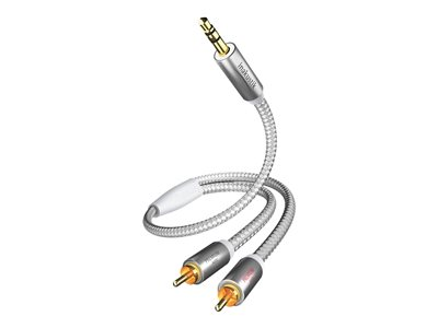 in-akustik Premium Audio Kabel 3,5 mm Klinke - Cinch 5,0 m