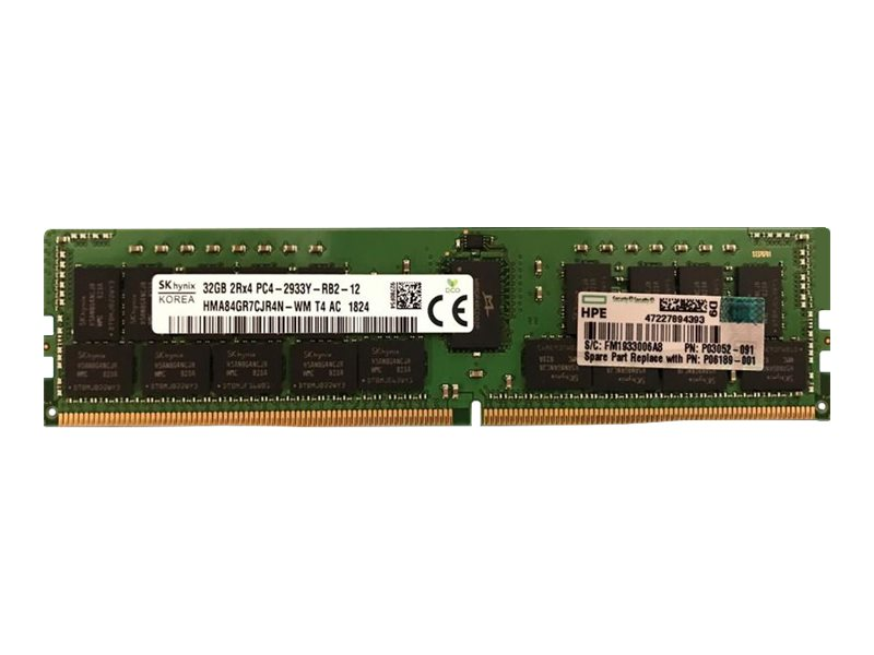 HPE SmartMemory - DDR4 - module - 32 GB - DIMM 288-pin - 2933 MHz / PC4-23400 - registered