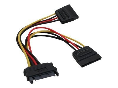 InLine Y-cable - Stromkabel - 15 PIN SATA Power bis 15 PIN SATA Power - 15 cm