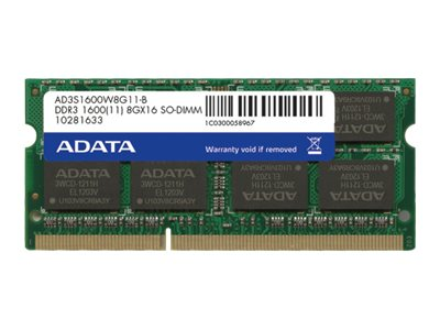ADATA Premier Series - DDR3L - 4 GB - SO DIMM 204-PIN - 1600 MHz / PC3L-12800 - CL11
