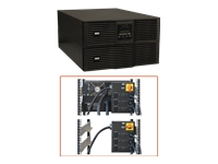 Tripp Lite UPS Smart Online 8000VA 7200W Rackmount 8kVA 208/240V 230V USB DB9 Manual Bypass Hot Swap C19 6URM - UPS - AC 200/208/220/230/240 V - 7.2 kW - 8000 VA - RS-232 - output connectors: 6 - 6U - attractive black