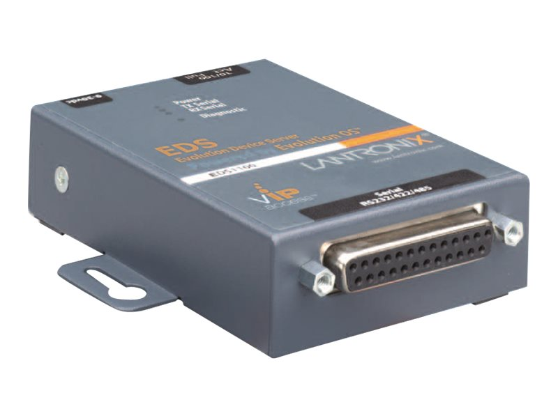 Lantronix Device Server EDS1100 1 Port Secure RS232/422/485 Serial to IP Ethernet Gateway - Geräteserver - 100Mb LAN, RS-232, RS-422, RS-485