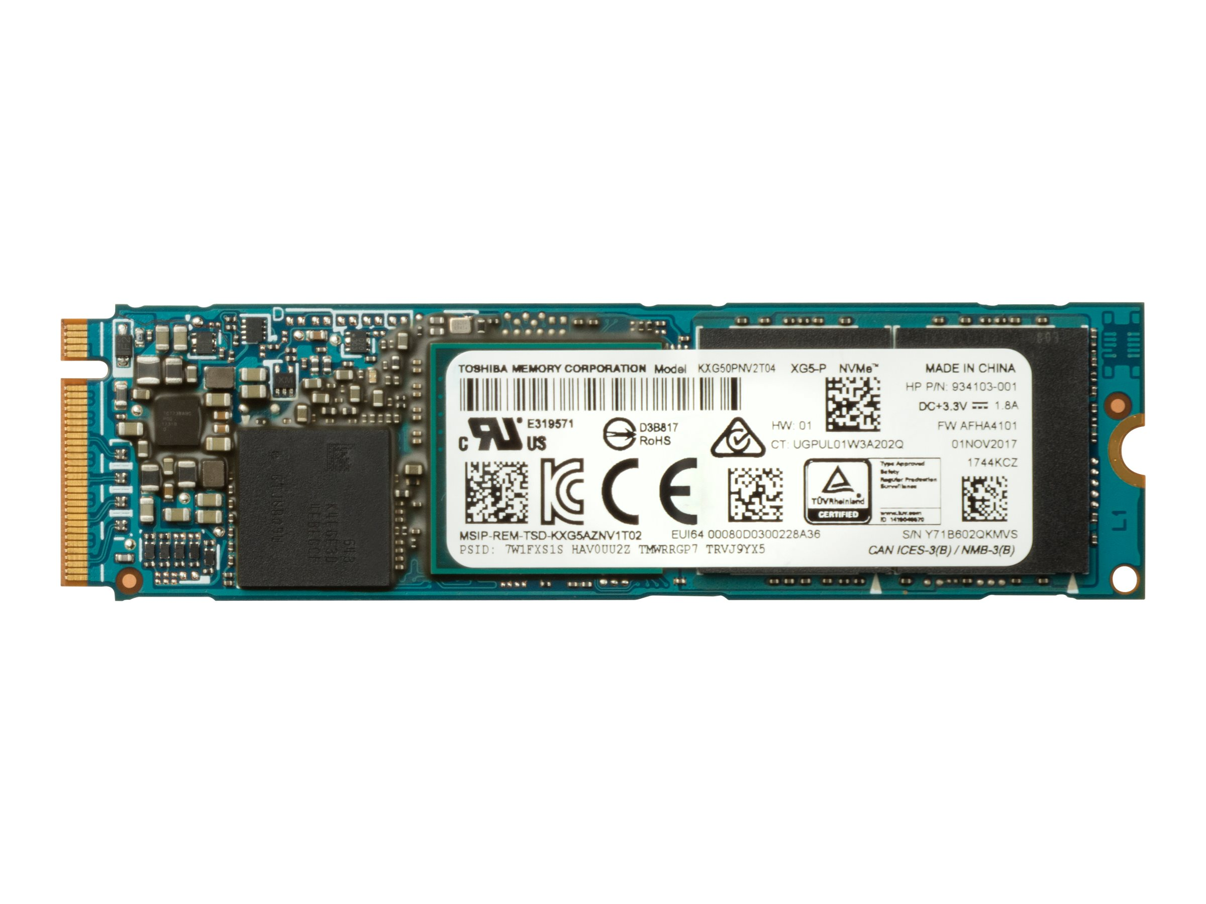 HP Z Turbo Drive Quad Pro - solid state drive - 2 TB - PCI Express