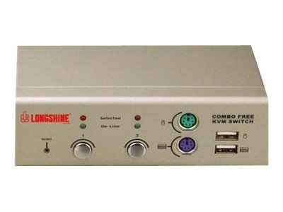 Longshine LCS-K702 - KVM-Switch - PS/2, USB - 2 x KVM port(s) - 1 lokaler Benutzer - Desktop