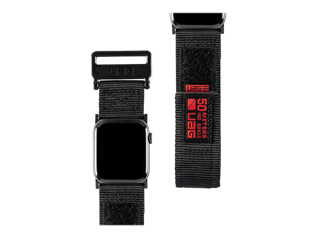UAG Apple Watch Band 44mm 42mm, Series 6/5/4/3/2/1/SE - Active Black - strap for smart watch