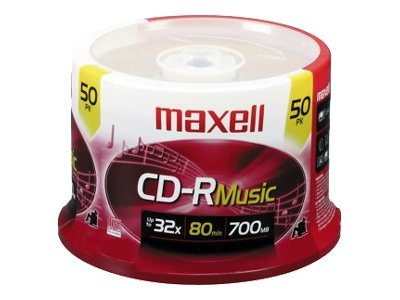 Maxell Music Gold 50 x CD-R 700 MB (80min) 32x spindle