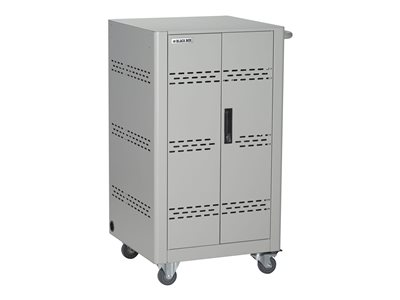 Black Box Basic Charging Cart with Split front door Cart for 36 tablets / notebooks lockable