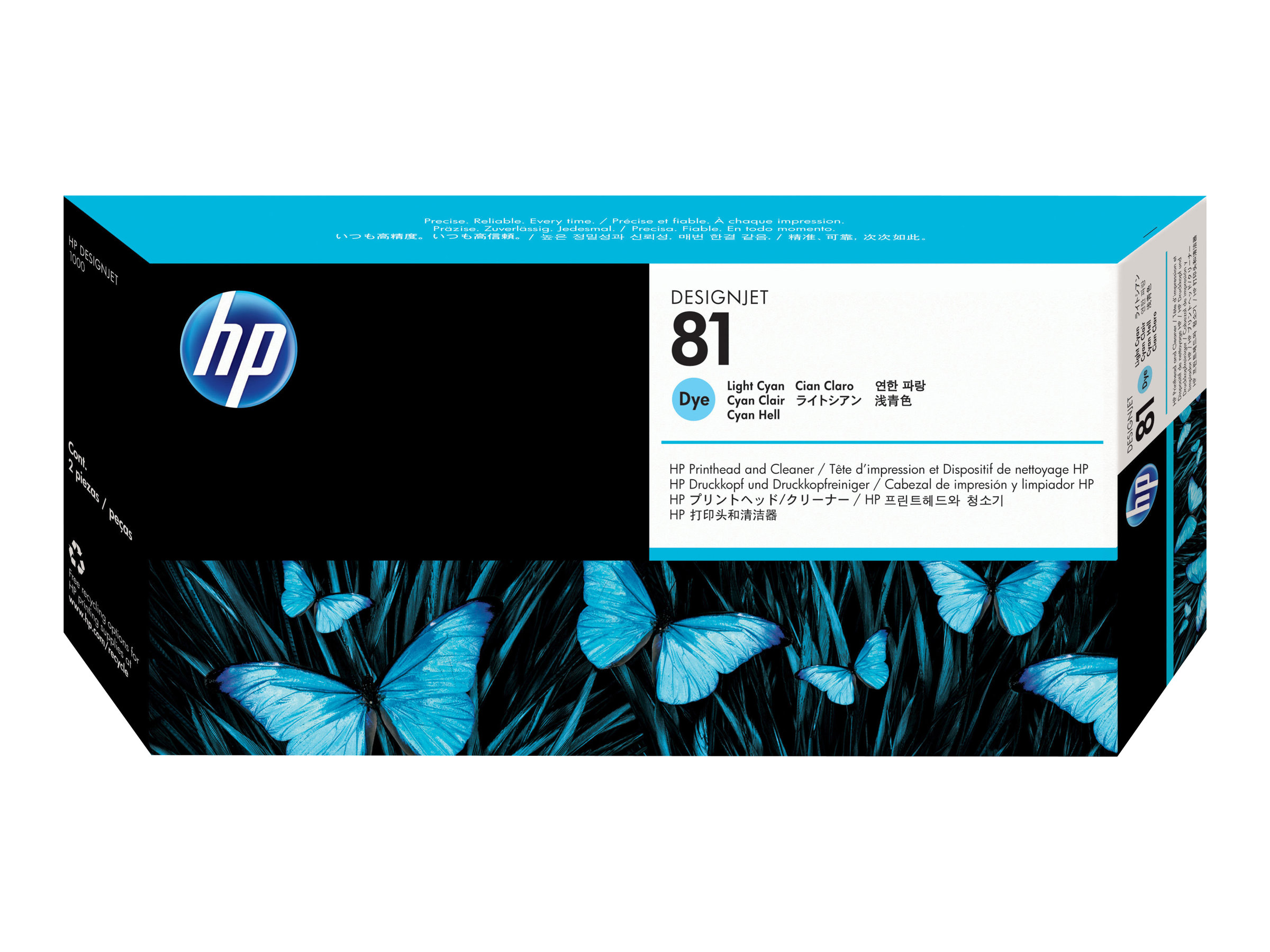 HP 81 - light cyan - printhead with cleaner
