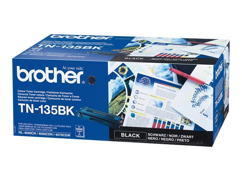 Brother TN135BK - Schwarz - Original - Tonerpatrone - für Brother DCP-9040, 9042, 9045, HL-4040, 4050, 4070, MFC-9420, 9440, 9450, 9840