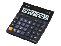 Casio DH-12 TER - Desktop calculator - 12 digits - solar panel, battery
