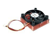 StarTech.com 1U 60x10mm Socket 7/370 CPU Cooler Fan w/ Copper Heatsink & TX3 - Processor cooler - (Socket A, Socket 370) - copper - 60 mm