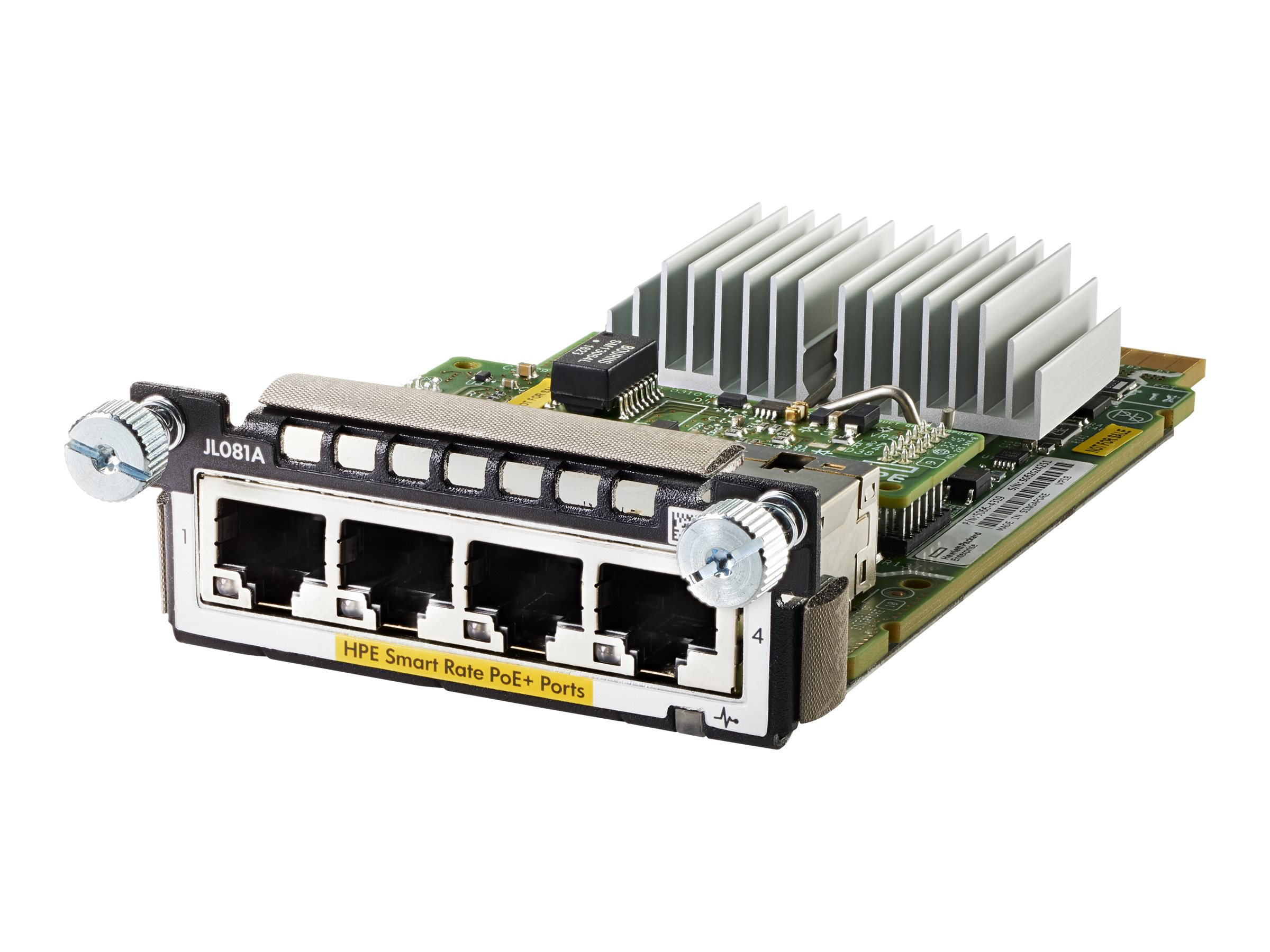 HPE Aruba 3810M/2930M Smart Rate Module - expansion module - 1/2.5/5/10GBase-T (PoE+) x 4