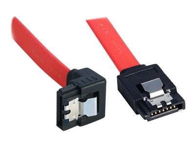 Lindy - SATA cable - Serial ATA 150/300 - SATA (F) to SATA (F) - 70 cm - 90° connector, latched, right-angled connector