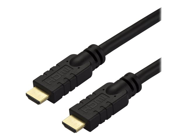 StarTech.com 10m(30ft) HDMI 2.0 Cable, 4K 60Hz Active HDMI Cable, CL2 Rated for In Wall Installation, Long Durable High Speed Ultra-HD HDMI Cable, HDR 10, 18Gbps, Male to Male Cord, Black - Al-Mylar EMI Shielding (HD2MM10MA)