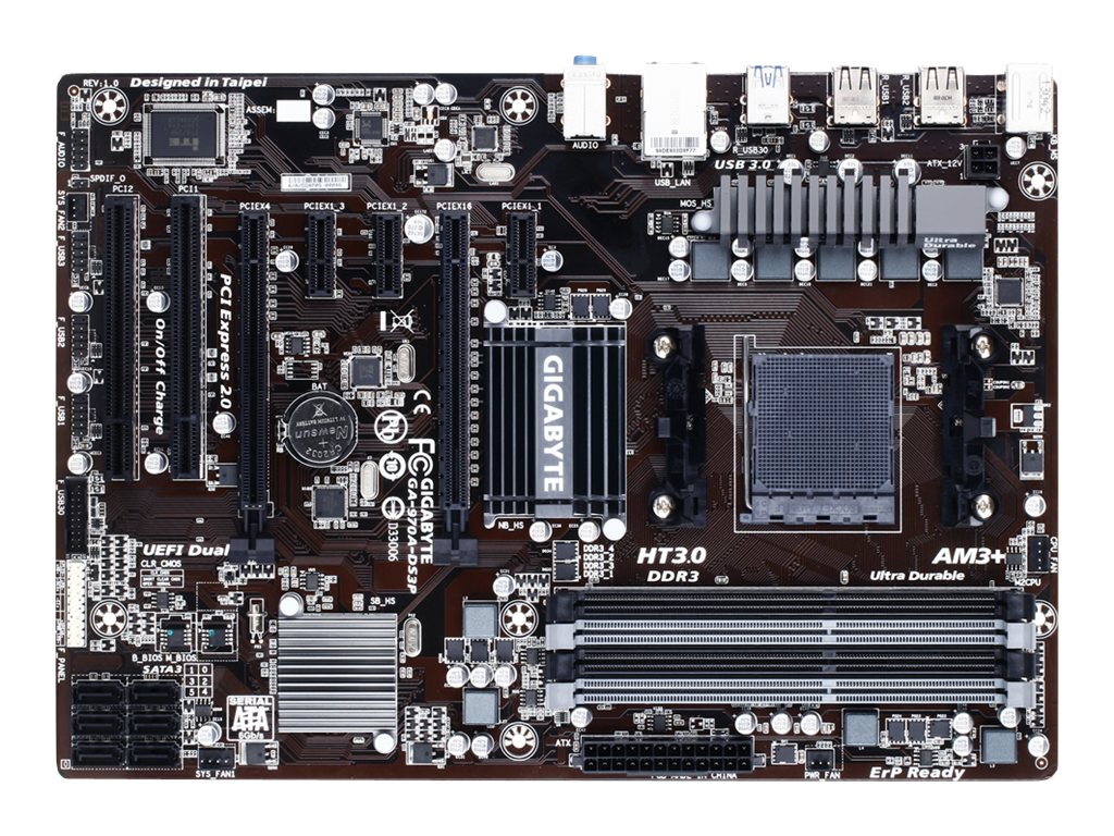 Gigabyte GA-970A-DS3P - 1.0 - Motherboard - ATX - Socket AM3+ - AMD 970
