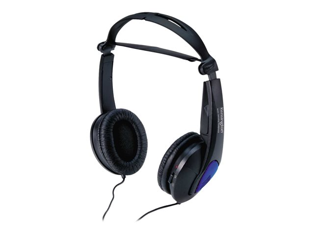 Kensington Noise Canceling Headphones - Casque - filaire - noir