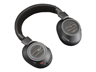 Plantronics Voyager 8200 UC - Headphones with mic - full size - Bluetooth - wireless - NFC - active noise cancelling - 3.5 mm jack - black