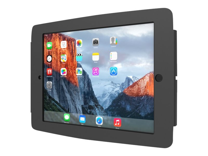 Compulocks Space - iPad Mini Wall Mount Enclosure - Black - Wandhalterung für Tablett - Aluminium - Schwarz