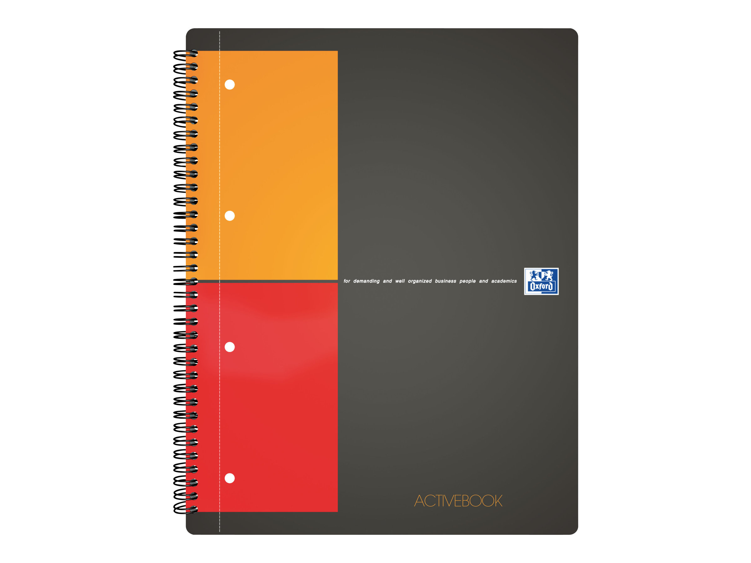 Oxford International A4+ - Cahier à spirale ActiveBook - 160 pages - quadrillé