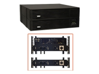 Tripp Lite UPS Smart Online 6000VA 5400W Rackmount 6kVA 200-240V USB DB9 Manual Bypass Hot Swap 4URM - UPS (rack-mountable) - AC 200/208/220/230/240 V - 5.4 kW - 6000 VA - RS-232, USB - output connectors: 4 - 4U - 19""