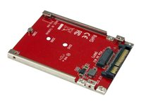 StarTech.com M.2 Drive to U.2 (SFF-8639) Host Adapter for M.2 PCIe NVMe SSDs - Adaptateur d'interface - M.2 - M.2 Card - U.2 - rouge