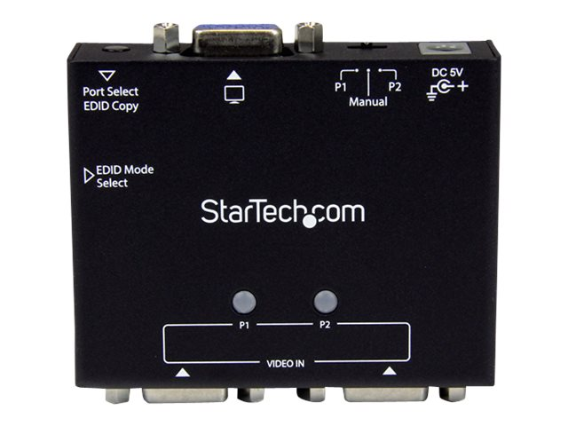 Image of StarTech.com 2-Port VGA Auto Switch Box w/ Priority Switching and EDID Copy - monitor switch - 2 ports