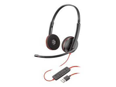 Poly Blackwire C3220 USB - 3200 Series - headset - on-ear - wired - USB - noise isolating - black