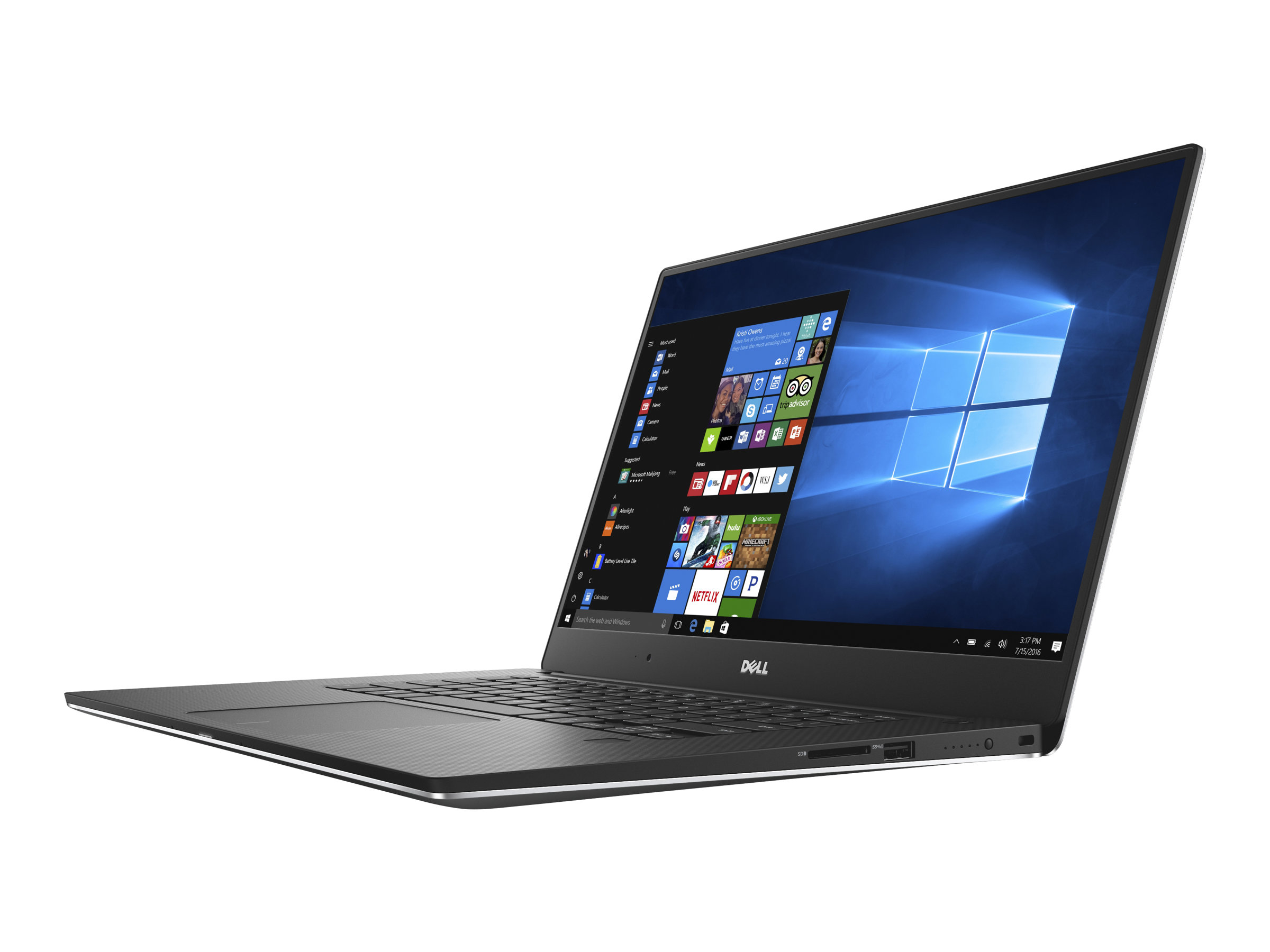 Dell XPS 15 9560 - Core i7 7700HQ / 2.8 GHz - Win 10 Pro 64-Bit - 16 GB RAM - 512 GB SSD - 39.652 cm (15.6