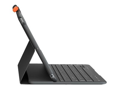 Black 5th and 6th Generation Logitech Slim Folio with Integrated Bluetooth Keyboard for iPad - Bulk Packaging