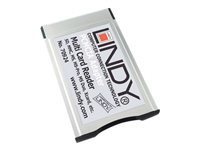 Lindy 46 in 1 card reader - Card adapter (MS, MS PRO, MMC, SD, MS PRO Duo, MMCplus, SDHC, xD Type H, xD Type M) - CardBus