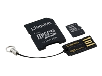 Kingston Multi-Kit / Mobility Kit - Flash memory card (microSDHC to SD adapter included) - 32 GB - Class 4 - microSDHC - with USB Reader