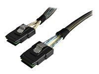 StarTech.com Câble SAS Serial Attached SCSI 1 m - SFF-8087 vers SFF-8087 - Câble interne SAS - avec bandes latérales - 4 voies - 4i Mini MultiLane 36 broches (P) pour 4i Mini MultiLane 36 broches (P) - 1 m