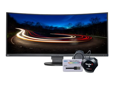 NEC MultiSync EX341R-BK-SV LED monitor curved 34INCH (34INCH viewable) 3440 x 1440 SVA