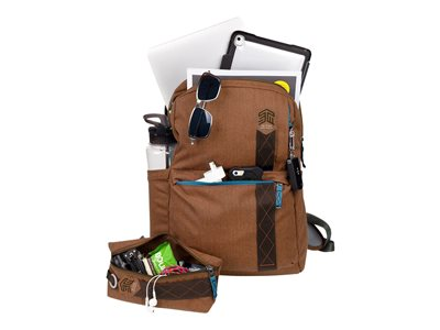 STM Banks Notebook carrying backpack 15INCH desert brown