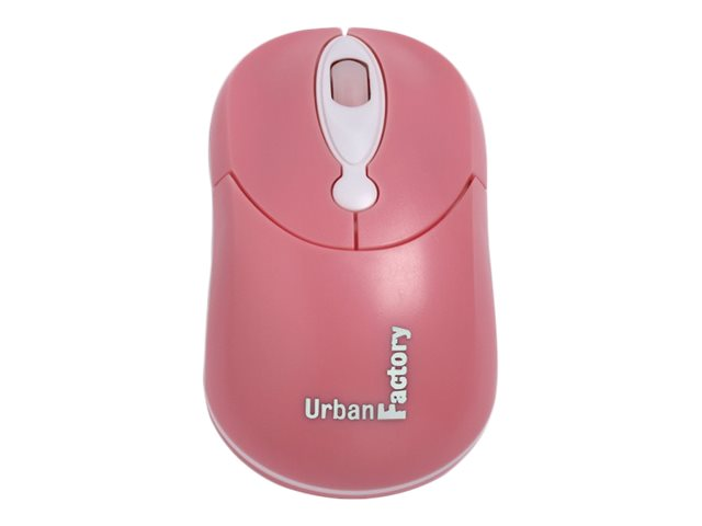 Urban Factory Crazy Mouse - mouse - USB - pink