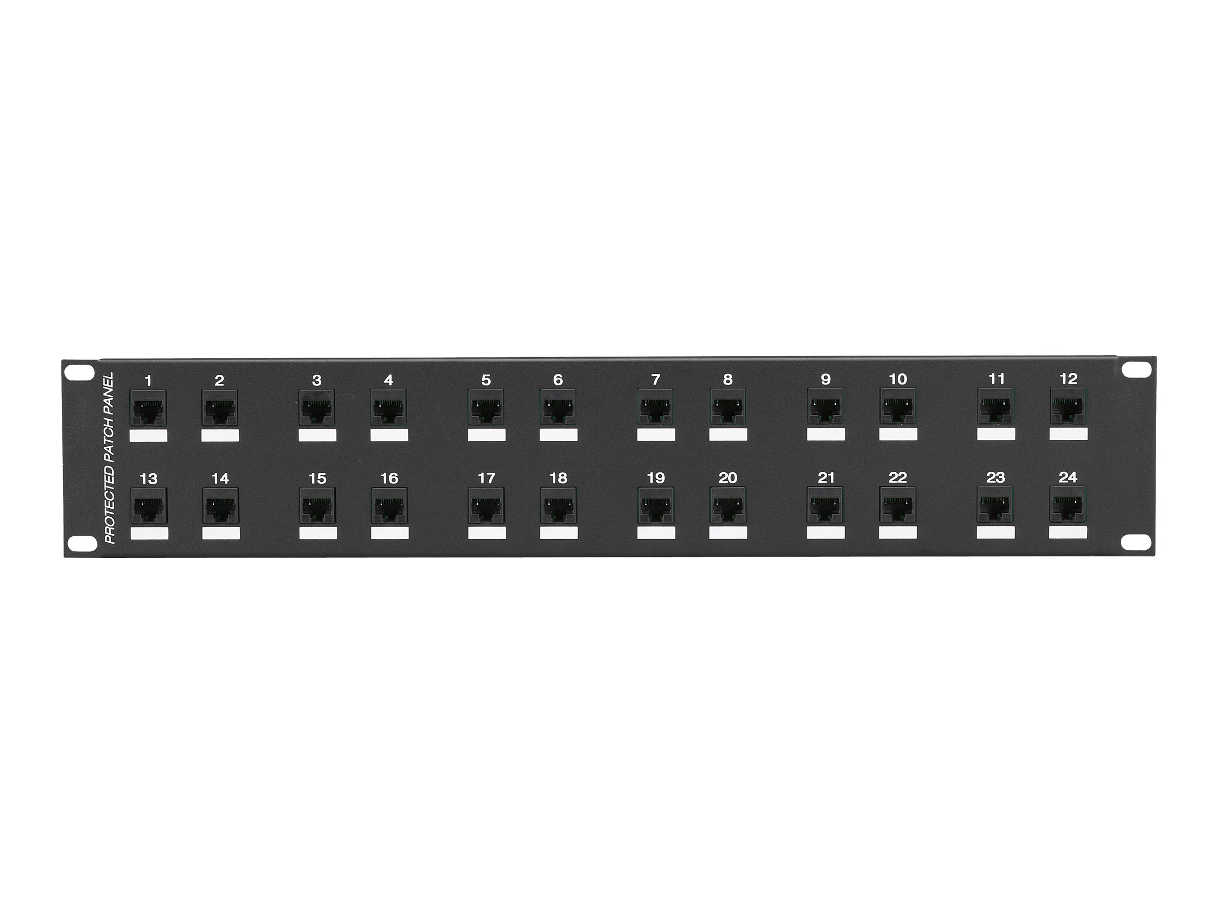 Black Box CAT6 Protected Panel - patch panel - 2U - 19""