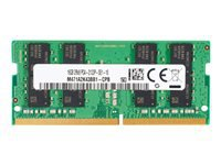 HP - DDR4 - 4 GB - SO-DIMM 260-pin - 2666 MHz / PC4-21300 - 1.2 V - unbuffered - non-ECC - promo - for Elite Slice G2; EliteDesk 705 G5, 800 G5; EliteOne 800 G5; ProOne 440 G5, 600 G5