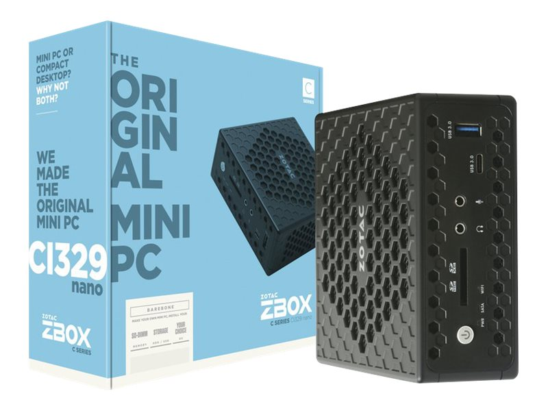 ZOTAC ZBOX C Series CI329 nano - mini PC - Celeron N4100 1.1 GHz - 4 GB - SSD 64 GB