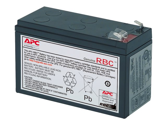 Apc replacement battery cartridge 106 batterie d 39 onduleur 1 x acide de plomb noir pour - Acide pour batterie ...