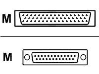 Cisco - Serielles RS-530-Kabel (DTE) - Smart Serial (M) bis DB-25 (M) - 3 m - abgeschirmt - für Cisco 2610, 2611, 2612, 2613, 2620, 2621