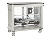Black Box Double Frame with Large Slots and Sliding Door Cart for 27 tablets