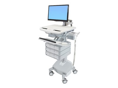 Ergotron StyleView Cart with LCD Arm, LiFe Powered, 9 Drawers - cart - for LCD display / keyboard / mouse / barcode scanner / CPU - TAA Compliant