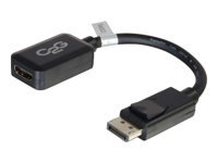 Picture of C2G 20cm DisplayPort to HDMI Adapter - DP Male to HDMI Female - Black - DisplayPort cable - 20 cm (8