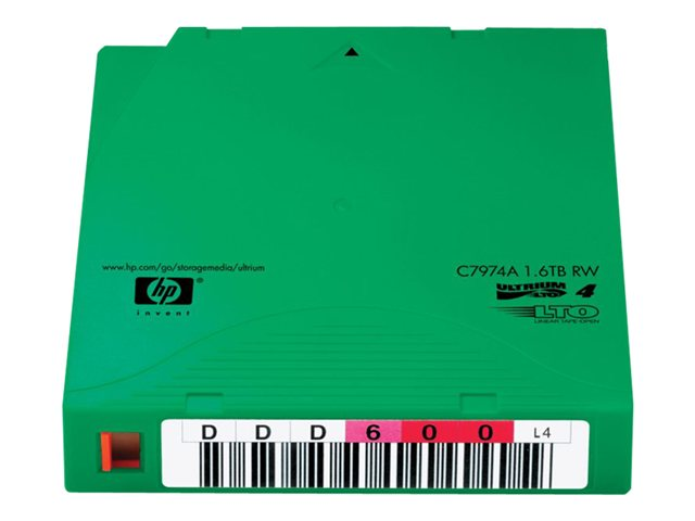 HPE Ultrium Non-Custom Labeled Data Cartridge - 20 x LTO Ultrium 4 - 800 Go / 1.6 To - etiquete - vert - pour HPE MSL4048; StorageWorks Enterprise Modular Library E-Series; StoreEver Ultrium 1840