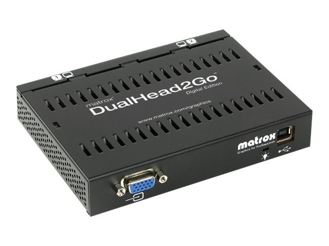 Matrox Graphics eXpansion Module DualHead2Go - Digital Edition - Videokonverter - VGA - DVI