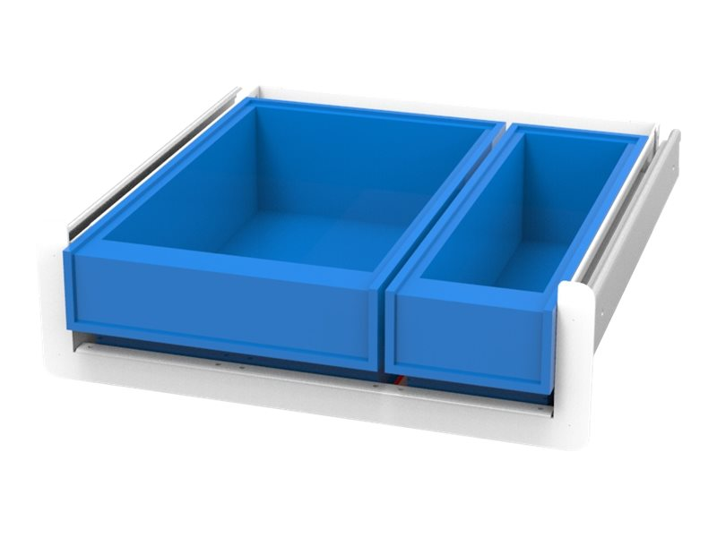 JACO SL Drawer Kit, 2 Med-Bin, 1 Narrow, 1 Wide - mounting component