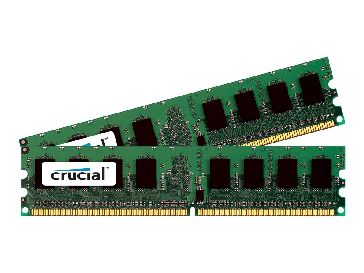 Crucial - DDR2 - 4 GB : 2 x 2 GB - DIMM 240-PIN - 1066 MHz / PC2-8500 - CL7