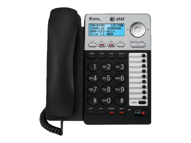 AT&T ML17929 - corded phone with caller ID/call waiting - 3-way call capability